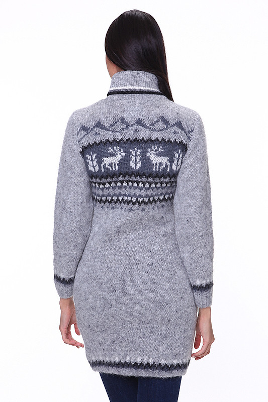 Zip Up Wool Sweater