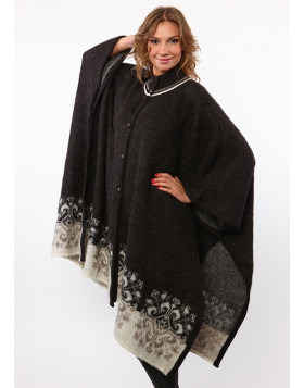 Ladies sleeveless Poncho. 100 % Icelandic Wool. Traditional Icelandic Design.
