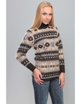 Turtleneck Wool Sweater for Women. 100 % Icelandic wool.