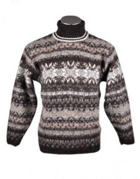 Turtleneck Wool Sweater for Men