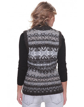 Icelandic Wool Ladies Buttoned Vest.
