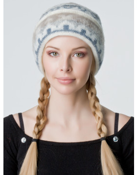 Ladies double-cuff Wool Toque. 100 % Icelandic wool.