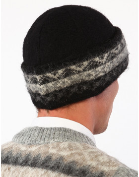 Unisex double-cuff Toque. 100 % Icelandic wool. Made in Canada.