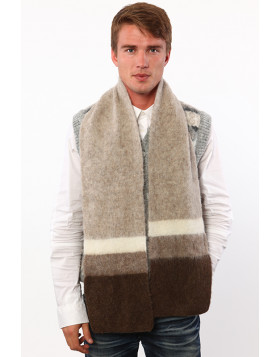 Classic four-colored scarf. 100  % Icelandic wool.