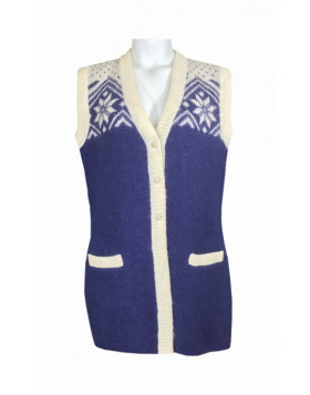 Wool vest for women