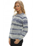 Crew Neck Wool Sweater for Women - Icelander. 100 % Icelandic Wool.