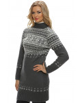 Long Wool Sweater for Women. Turtleneck. 100 % Icelandic wool.