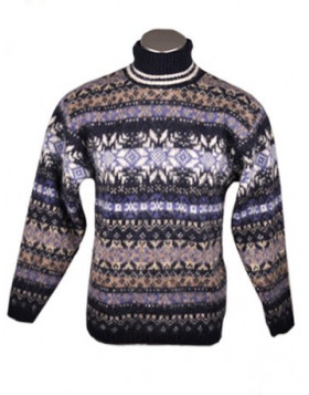 Turtleneck Wool Sweater for Men. 100 % Icelandic Wool