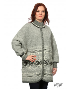 Wool Poncho with sleeves. 100 % Icelandic Wool. Made in Canada. Traditional Icelandic Design.