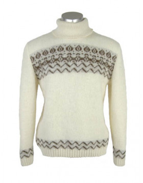 Elegant Crew Neck Wool Sweater for Men. 100 % Icelandic Wool.