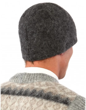 Men's Wool Hat (Beanie) Icelandic Design Grey